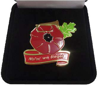 Remembrance Poppy Lapel Badge