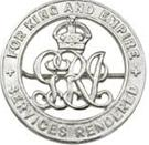 WWI services rendered Badge