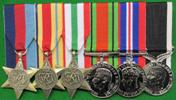 mounted WWI medals set