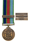 New Zealand Defence Service Medal with clasps